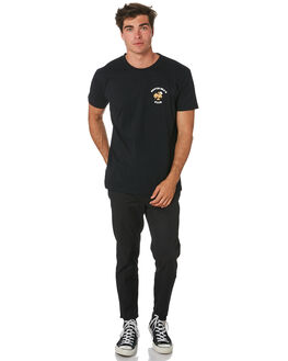 BLACK MENS CLOTHING THE LOBSTER SHANTY TEES - LBSSDTEEBLK