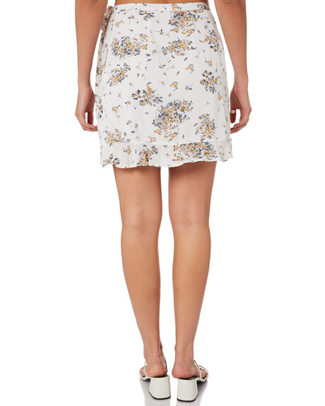WHITE WOMENS CLOTHING RUSTY SKIRTS - SKL0498WHT
