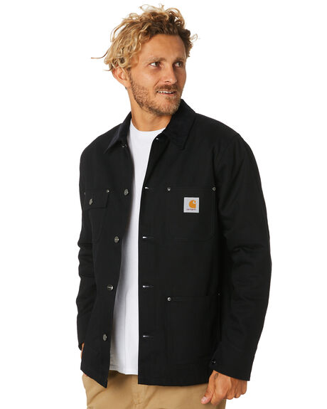 BLACK MENS CLOTHING CARHARTT JACKETS - I015261-89-00BLK