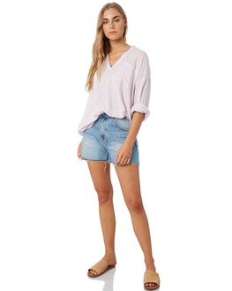 LIGHT PURPLE WOMENS CLOTHING RIP CURL FASHION TOPS - GSHFQ10773