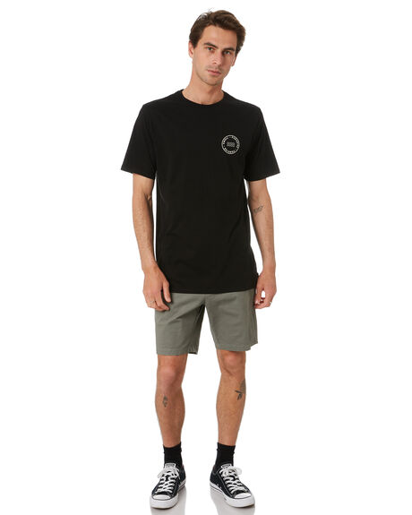 BLACK MENS CLOTHING SWELL TEES - S5202004BLACK