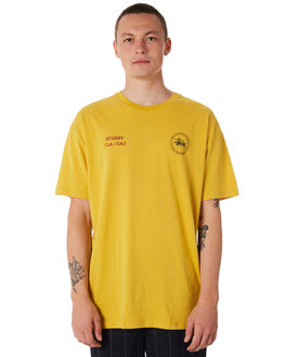 YELLOW MENS CLOTHING STUSSY TEES - ST086017YLW