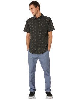 WASHED BLACK COPPER MENS CLOTHING BRIXTON SHIRTS - 01134WSBKC