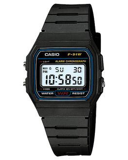 BLACK MENS ACCESSORIES CASIO WATCHES - F91W-1