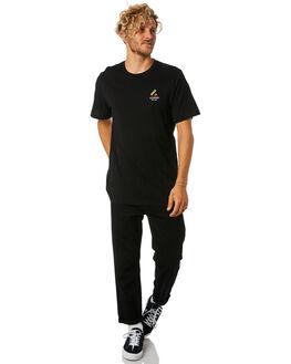 BLACK MENS CLOTHING LOWER TEES - LO18Q4MTS01BLK