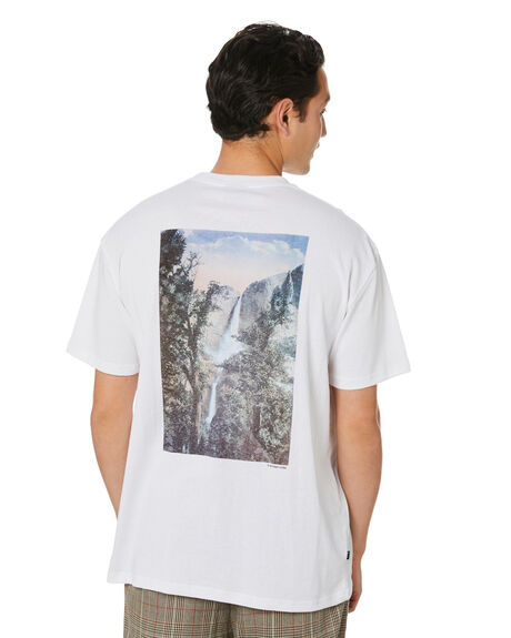 WHITE MENS CLOTHING STUSSY TEES - ST001004WHT