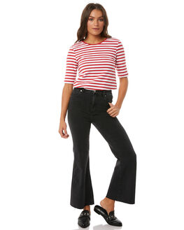 BLACK WOMENS CLOTHING ROLLAS JEANS - 125663557