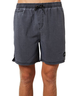 BLACK MENS CLOTHING RUSTY BOARDSHORTS - BSM1298BLK