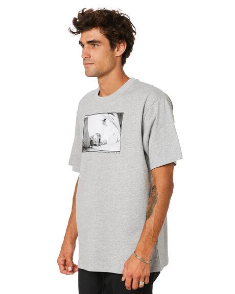 MEDIUM GREY HEATHER MENS CLOTHING ADIDAS TEES - GQ9148MGH