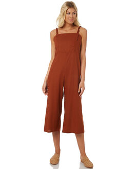 DESERT RED WOMENS CLOTHING SAINT HELENA PLAYSUITS + OVERALLS - SH18S1843DES