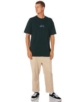 DARKEST TEAL MENS CLOTHING STUSSY TEES - ST082000DKTEL