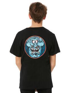 BLACK KIDS BOYS SANTA CRUZ TEES - SC-YTC8098BLK
