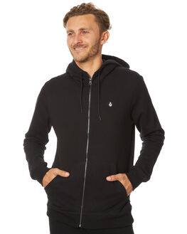 BLACK MENS CLOTHING VOLCOM JUMPERS - A4831700BLK