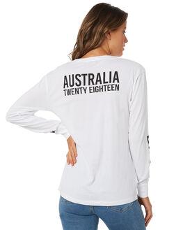 WHITE WOMENS CLOTHING BILLABONG TEES - 6585082XWHT