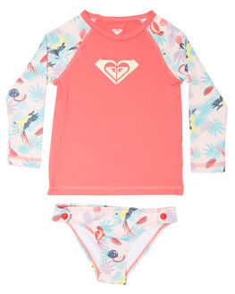 TROPICAL PARROTS SURF RASHVESTS ROXY TODDLER GIRLS - ERLWR03069MDR6