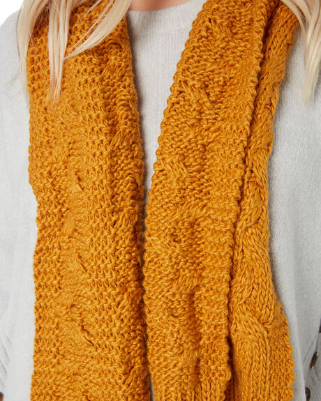 INCA GOLD WOMENS ACCESSORIES RUSTY SCARVES + GLOVES - MAL0410ING