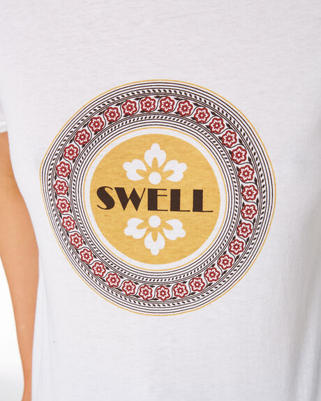 WHITE WOMENS CLOTHING SWELL TEES - S8201011WHI