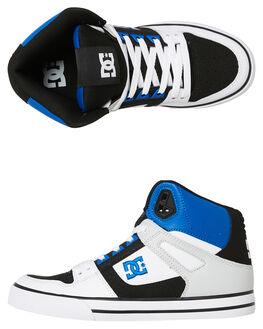 BLACK WHITE MENS FOOTWEAR DC SHOES SNEAKERS - ADYS400043XKWB
