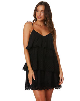 BLACK WOMENS CLOTHING TIGERLILY DRESSES - T392456BLK