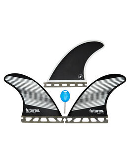 GREY BLACK BOARDSPORTS SURF FUTURE FINS FINS - 1140-160-00GRYBK