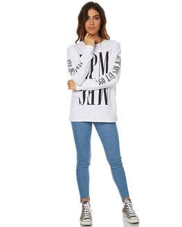 WHITE WOMENS CLOTHING RPM TEES - 7WWT03AWHT
