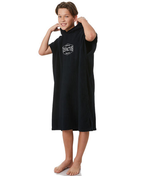 BLACK KIDS BOYS DEPACTUS TOWELS - D32221801BLACK