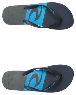BLACK BLUE MENS FOOTWEAR RIP CURL THONGS - TCTA580107