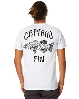 WHITE MENS CLOTHING CAPTAIN FIN CO. TEES - CT171076WHT