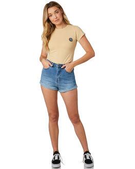 CLAY WOMENS CLOTHING RVCA TEES - R281689CLAY
