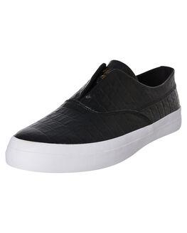 BLACK MENS FOOTWEAR HUF SKATE SHOES - VC00080-BLK