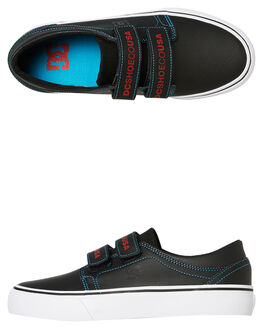 BLACK RED KIDS BOYS DC SHOES SKATE SHOES - ADBS300292XKRB