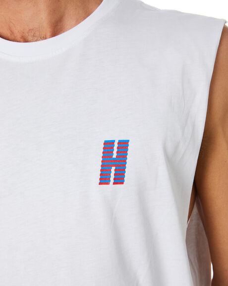 WHITE MENS CLOTHING HUFFER SINGLETS - MTA94J2231101WHT