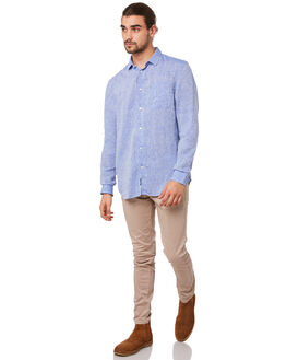 DARK CHAMBRAY MENS CLOTHING ACADEMY BRAND SHIRTS - BA802DCHMB