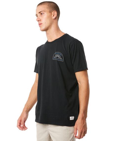 BLACK MENS CLOTHING KATIN TEES - TSEND01BLK