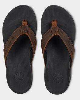 BLACK/BROWN MENS FOOTWEAR KUSTOM THONGS - KS-4983207-BBW