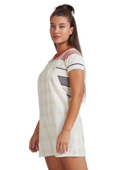 WHITE WOMENS CLOTHING RVCA PLAYSUITS + OVERALLS - R217759-WHT