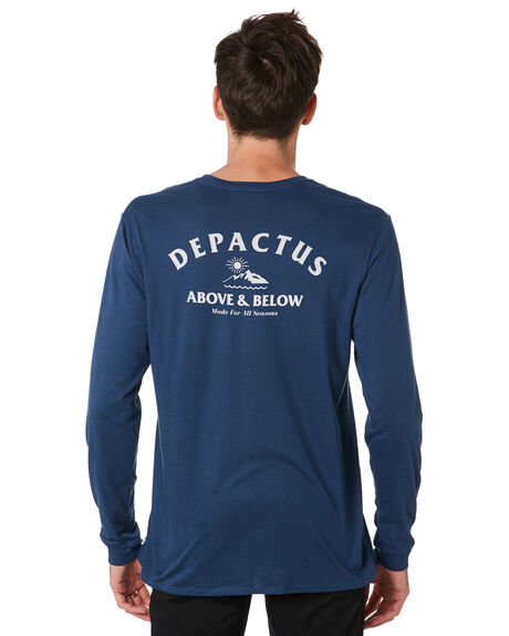 NAVY BLUE MENS CLOTHING DEPACTUS TEES - D5201102NVBLU