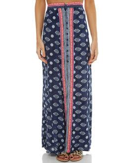 NAVY BLUE WOMENS CLOTHING RUSTY SKIRTS - SKL0432NVBL