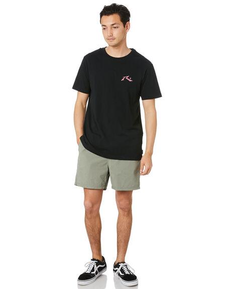 BLACK MENS CLOTHING RUSTY TEES - TTM1612BLP