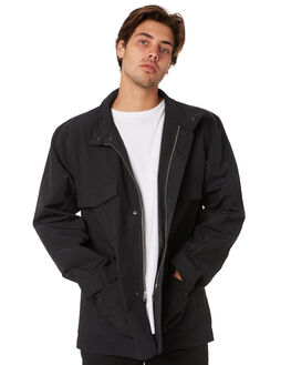 BLACK MENS CLOTHING HERSCHEL SUPPLY CO JACKETS - 15019-00073BLK