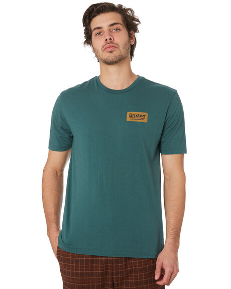 EMERALD GOLD MENS CLOTHING BRIXTON TEES - 06528EMGLD