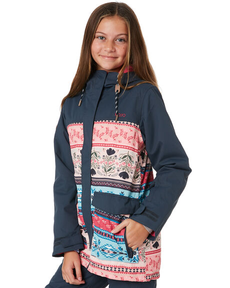 73f57cbc4c2a44 Rojo Girls Sweet Thing Snow Jacket - Folklore Print | SurfStitch