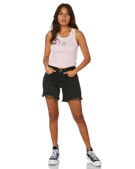 PALE PINK WOMENS CLOTHING MISFIT SINGLETS - MT102011PPNK