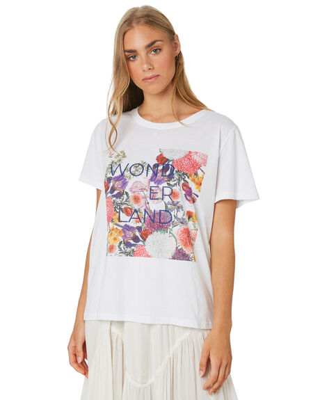 WHITE OUTLET WOMENS MLM LABEL TEES - MLM702BWHT