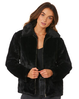 BLACK WOMENS CLOTHING ALL ABOUT EVE JACKETS - 6415114BLK