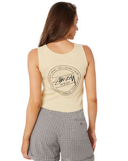 STRAW WOMENS CLOTHING STUSSY SINGLETS - ST105205STRAW