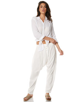 WHITE WOMENS CLOTHING ZULU AND ZEPHYR PANTS - ZZ1582WHT