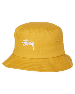 MUSTARD MENS ACCESSORIES STUSSY HEADWEAR - ST783025MUST