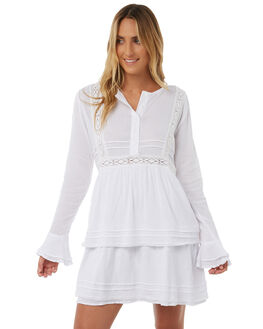 WHITE OUTLET WOMENS LILYA DRESSES - CCD10-ERLAW18WHT