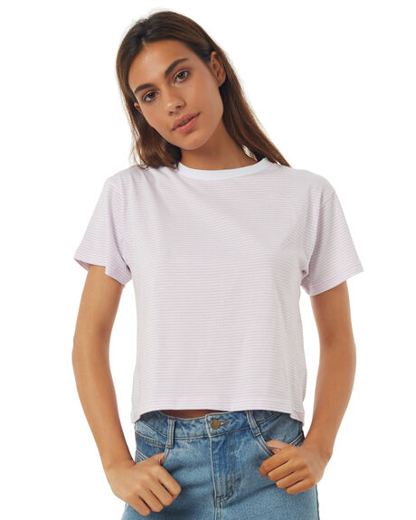 LILAC STRIPE WOMENS CLOTHING ALL ABOUT EVE TEES - 6403111LILST